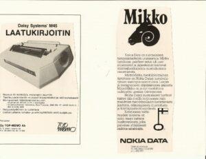 ESATKY 10v julkaisu - mainoksia...Daisy ja Nokia Data