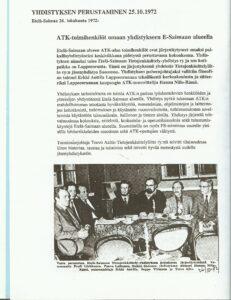 ESATKYn perustaminen - Etelä-Saimaan artikkeli