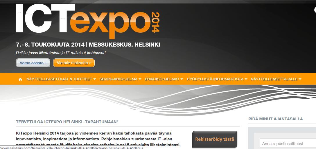 ICTexpo 2014 lippuja