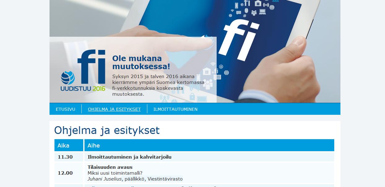 13.1.2016 / Fi-verkkotunnusten Suomi-kiertue Lappeenrannassa
