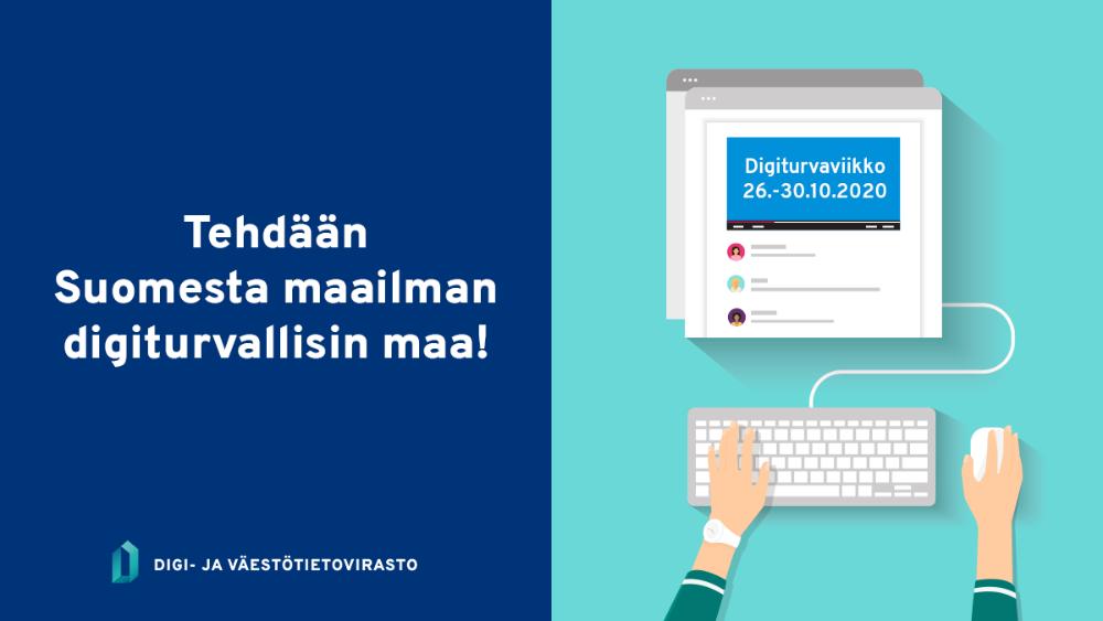 Digi- ja väestötietovirasto (DVV) & kansallinen Digiturvaviikko 26.–30.10.2020